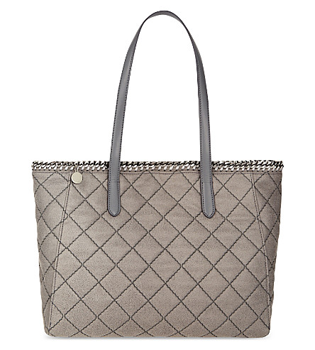 STELLA MCCARTNEY East/West quilted tote (Grey