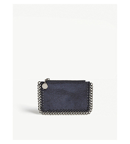 STELLA MCCARTNEY Falabella faux-leather card holder (Ink+navy