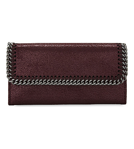STELLA MCCARTNEY Falabella continental chain purse (Indian+red