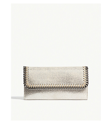STELLA MCCARTNEY Falabella continental chain purse (Pale+gold