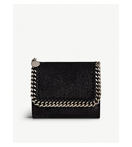 STELLA MCCARTNEY Falabella small continental wallet (Black