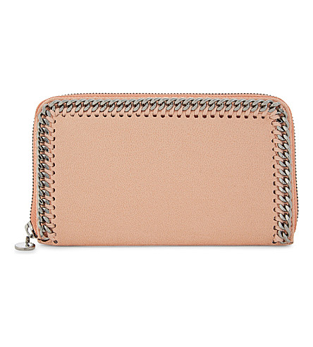 STELLA MCCARTNEY Falabella zipped wallet (Apricot