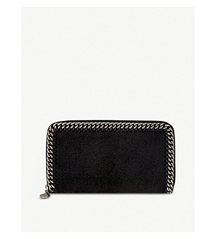 STELLA MCCARTNEY Falabella 拉链钱包 (黑色