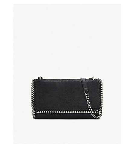 STELLA MCCARTNEY Falabella faux-leather shoulder bag (Black