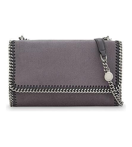 STELLA MCCARTNEY Falabella faux-leather shoulder bag (Dark grey