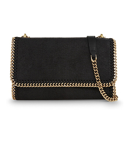 STELLA MCCARTNEY Falabella faux-suede shoulder bag (Black