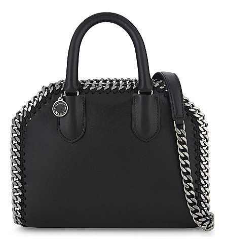 STELLA MCCARTNEY Chain trim faux-leather cross-body bag (Black