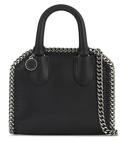 STELLA MCCARTNEY Chain trim faux leather cross-body bag (Black
