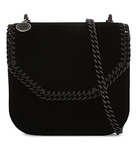 STELLA MCCARTNEY Velvet cross-body bag (Black