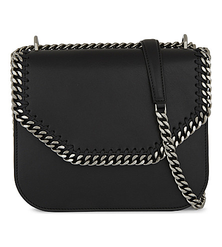 STELLA MCCARTNEY Chain faux-leather cross-body bag (Black