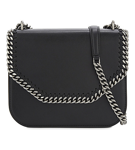 STELLA MCCARTNEY Falabella box faux-leather shoulder bag (Black