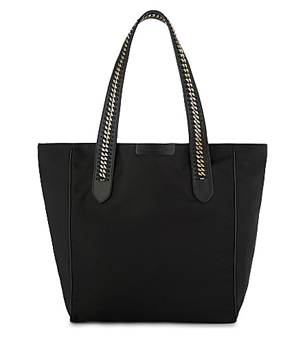 STELLA MCCARTNEY Nylon chained tote (Black
