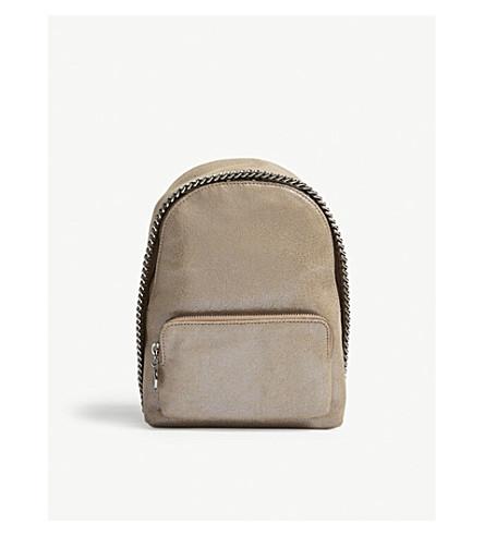 STELLA MCCARTNEY Falabella mini faux-suede backpack (Redwood