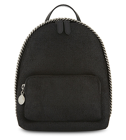 STELLA MCCARTNEY Falabella faux-suede mini backpack (Black