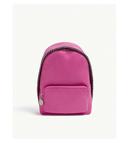 STELLA MCCARTNEY Falabella faux-suede mini backpack (Hot pink