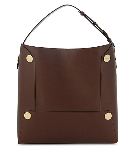 STELLA MCCARTNEY Oversized faux-leather tote (Cognac