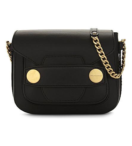 STELLA MCCARTNEY Popper medium faux-leather shoulder bag (Black