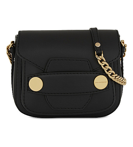 STELLA MCCARTNEY Faux-leather shoulder bag (Black