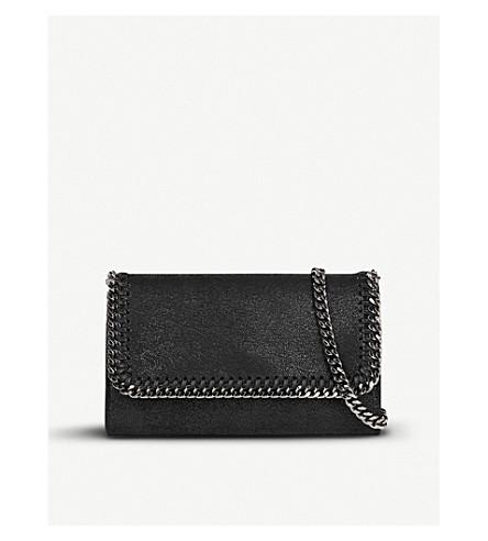 STELLA MCCARTNEY Falabella faux-suede pouchette (Black