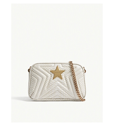STELLA MCCARTNEY Small quilted star camera bag (Ivory