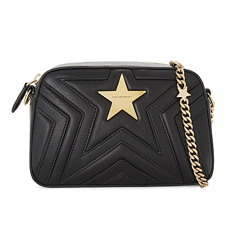 STELLA MCCARTNEY Star faux-leather cross-body camera bag (Black