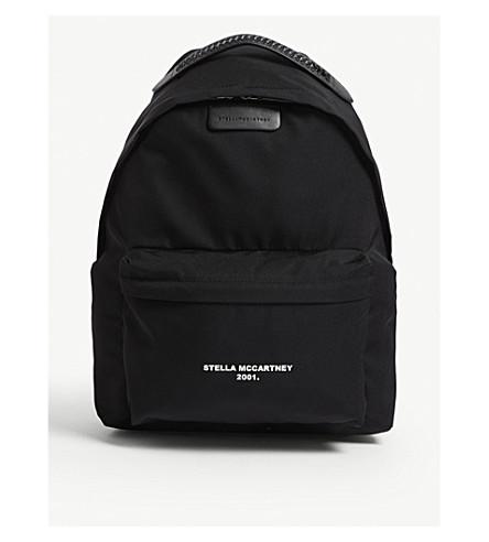 1f80c3e0318c ... STELLA MCCARTNEY Falabella logo-print nylon backpack (Black.  PreviousNext