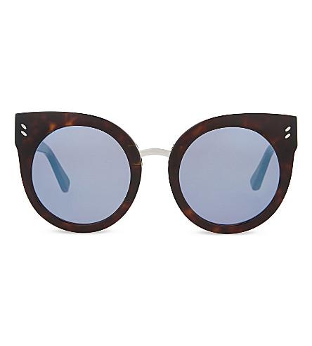 STELLA MCCARTNEY Sc0036 round-frame sunglasses (Avana+blue