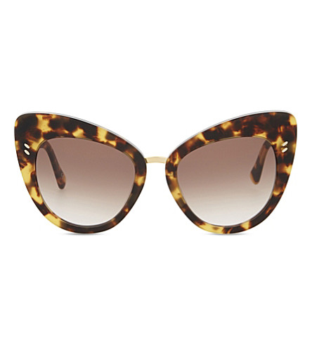 STELLA MCCARTNEY Sc0037 cat eye-frame sunglasses (Avana+brown