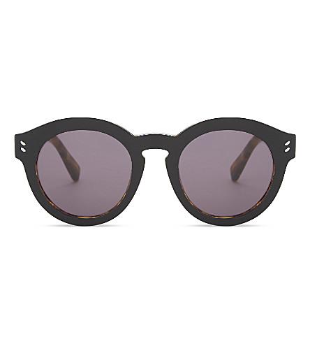 STELLA MCCARTNEY SC0046 round-frame sunglasses (Blk+av+grey