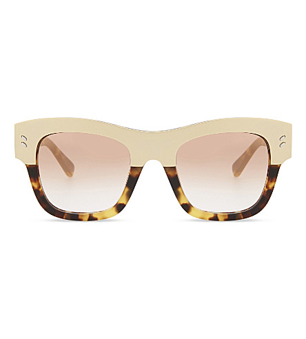 STELLA MCCARTNEY Sc0047 square-frame havana sunglasses (Gold+havana