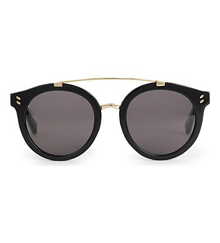 STELLA MCCARTNEY SC0054S round sunglasses (Black+black