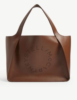 Perforated logo tote bag(8311762)