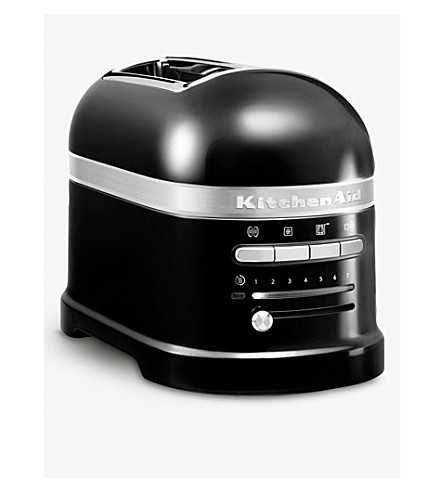 KITCHENAID Onyx black artisan 2 slot toaster (Black