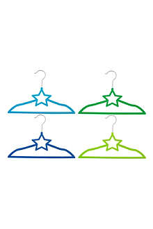 PRESENT TIME Set of four Star clothes hangers