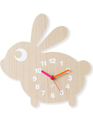 PRESENT TIME Rabbit wall clock