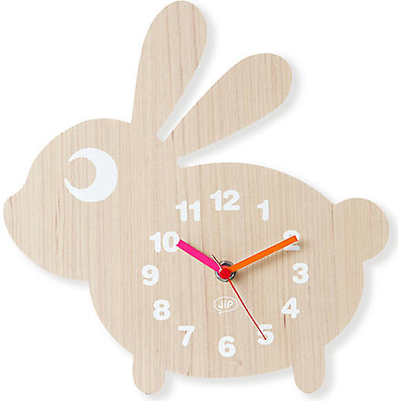 PRESENT TIME Rabbit wall clock