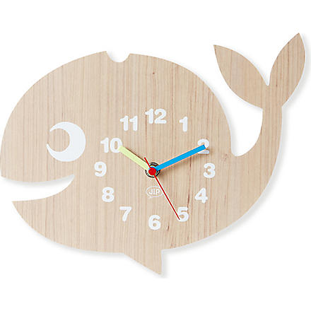 PRESENT TIME Whale wall clock
