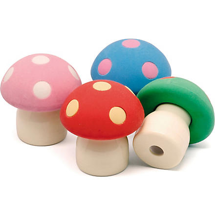 PRESENT TIME Mushroom eraser with sharpener