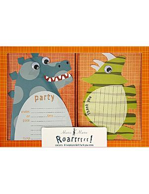 MERI MERI Roarrrr! Dinosaur invitations and thank you notes