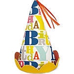 MERI MERI Pack of eight Bright patterned party hats