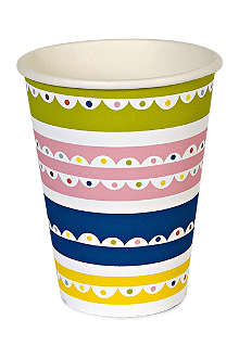 MERI MERI Set of 12 Bright patterned party cups