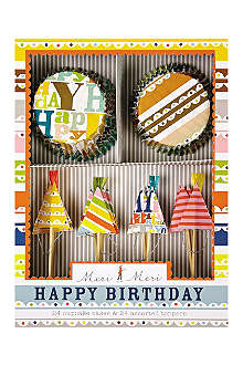 MERI MERI Bright patterned party cupcake kit