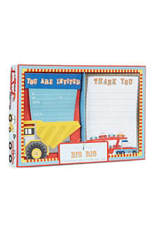 MERI MERI Big Rig invitation and thank you cards