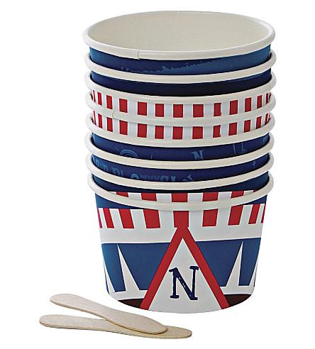 MERI MERI Ahoy There pirate ice-cream cups