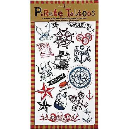 MERI MERI Ahoy There pirate tattoos