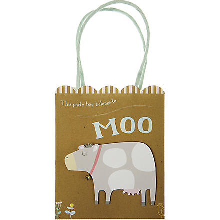 MERI MERI Pack of eight Happy little farm party bags