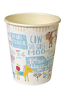 MERI MERI Pack of 12 Happy Little Farm paper cups