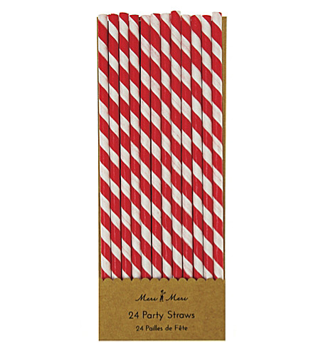 MERI MERI Pack of 24 striped paper straws