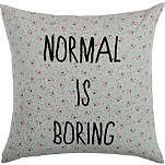 LA CERISE SUR LE GATEAU Normal is Boring cushion cover