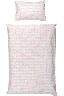 LA CERISE SUR LE GATEAU Faces Arbapapa single bed linen set